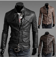 Men leather coat men - 2012 New Fashion Men s Locomotive cultivate one s morality PU Leather Jackets Coat Outerwear