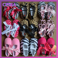 Wholesale The latest fashion ribbon babies shoes pair