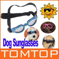 Sunglasses & Goggles eye protection glasses - New Pet Dog Goggles UV Sunglasses Wear Protection Eye Adjustable dog sun glasses H8205R B BL