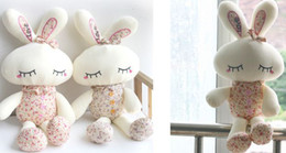 Wholesale Cute angel rabbit doll plush toys shy Rabbit Floral the bunny Beauty rabbit