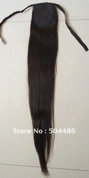 Wholesale high quality quot ponytail g extensions light blonde real human hair straight