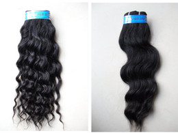 Wholesale 50pcs Mix Inch Deep Wave or Wefts Natural Wave Brazilian Virgin Human Hair Black Color Janet