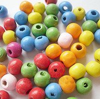 Wholesale 7 MM Colorful round bead wood loose beads fit bracelets necklaces accessories set