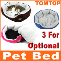 Wholesale Pet Dog Nest Puppy Cat dog Soft Bed Fleece Warm House Kennel Plush Mat Blue H8588 BL RO