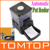 Wholesale By EMS L Large Automatic Timer Dog Cat Pet Feeder Dry Food Portion Control Built in clock H8720