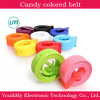 Wholesale Fashion Silicone belt Width CM CM new style Candy colored belt fluorescent plastic belt