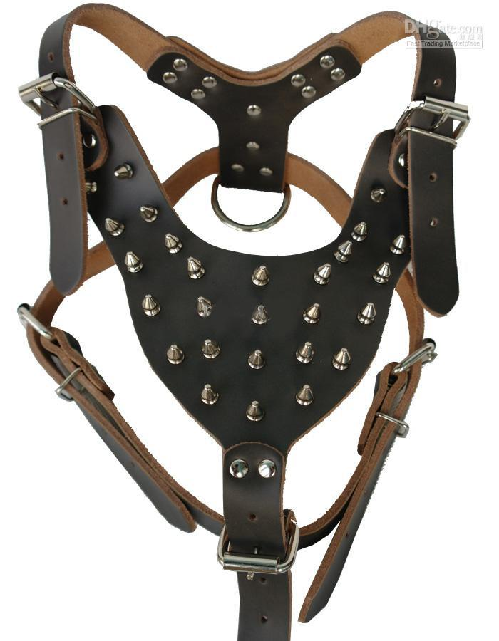 2017 leather dog harness hot selling dog harness with rivets moq from abhome dhgate com. Black Bedroom Furniture Sets. Home Design Ideas