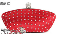 Wholesale 2012 New Womens hand diamond party evening wedding purse clutch bag cosmetic bag wallet purse color