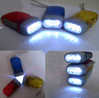 no battery hand warmers - 3 LED Dynamo Hand pressing Flashlight No battery Generator Flash Light Outdoor hot selling retail