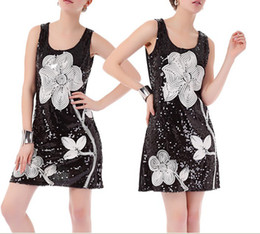 Wholesale Hight classs graceful big flowers short vest skirt vest dressess summer skirts dress Black color