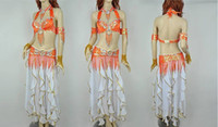 Cheap Tribal Belly Dancing Costume Set Bra+Belt Professional Colorful belly dance set Show outfits 5set