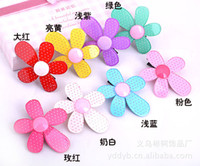 Wholesale Girl Hair Clip Hair Ornaments Headdress Children Hairpin Ornaments Sun Flower Acryl dandys