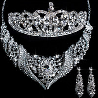 Crown Other  Hot Sale noble Luxurious crystal Wedding Bridal Jewelry Including Necklace,Earrings and Tiara 97820