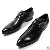 Wholesale 2012 new assembling a leather shoes man pointed leather shoes with British male shoes leathe