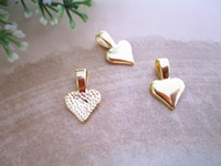 Traditional Charm beautiful tiles - Mixed color colors Heart Bails Beautiful on your Scrabble Tiles and Glass Pendants
