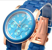 Wholesale 2012 new hot fashion luxury women watches lady silicone watch men leather watch colors