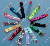 Wholesale 120pcs Sequin Headbands Baby Headbands For Girl Stretch Inch Sequin Headband Colors SH17
