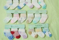al por mayor calcetines blancos del bebé recién nacido-2015 nueva llegada! Calcetines del bebé recién nacido del algodón calcetines baratos aplacan los calcetines blancos Use calcetines de bebé para los hombres. (30/60/120) PC / porción.