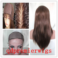 Wholesale Silk Top Full lace Wigs Indian Remy Hair Light Yaki Medium Cap Size X4 Silk Base