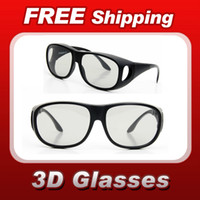Wholesale Silicone ABS Easy Frame Plastic Circular Polarized D D Glasses DVD Movie Game