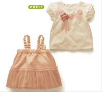 best baby supplies - Factory Supply Cheap Best Baby Clothing Baby Suit Girl Baby s D Flower Tshirt braces skirt Set