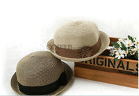 Wholesale thantrue woman and summer beach straw hat with Japanese flower dome good service