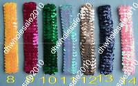 Wholesale Stretch Sequin For Headbands - 60pcs 1'' Sequin Headbands Baby Headbands For Girl Stretch 1 Inch Sequin Headband 14 Colors @7ygv