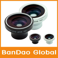 Wholesale 180 degree Angle Detachable Fish Eye Lens With Magnet For IPhone Mobile phone Compact Camera