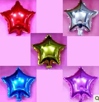 Wholesale 18 inch Star Shape Foil Balloon For Wedding Birthday party Decoration per