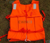Wholesale Orange Foam Swimming Life Jacket Life Vest for adult with whistle KG Flotage