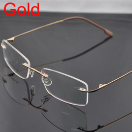 Wholesale rimless hinged memory titanium optical frames eyeglasses eyewear colors