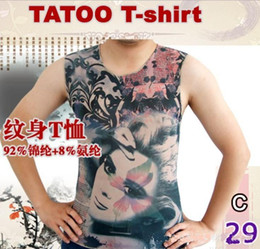 Wholesale TATTOO T SHIRT Sexy lingeries Sexy T Shirt Jazz Girl Tattoo Sleeveless T shirt