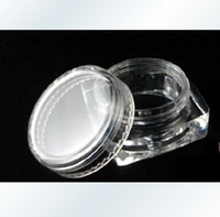 Wholesale 3g Empty Cosmetic Container acrylic plastic clear transparent jar tub cream lip balm case070702