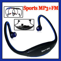 Wholesale Sports mp3 player with FM radio wireless Headset Headphone Handsfree USB TF Slot