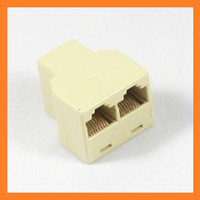 Wholesale RJ45 P8C Female Network Coupler Adapter to Female Female Splite