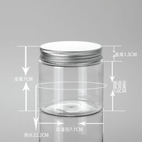 Wholesale 070706 Empty Cosmetic Container PET aluminium cap Disc Lid Clear jar tub Lotion Dispenser ml