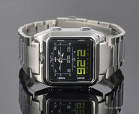Wholesale 2012 Dual Time Scrolling Display Digital LED Sport Men Watch DIVER