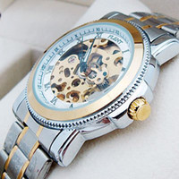 Wholesale Vegan Mens Golden Hollow Automatic Unique Design Watch Deluxe