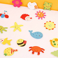 Wholesale Cartoon fridge magnet animal shape fridges colorful home supplies household articles gift for child