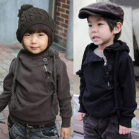 coats and jackets - 2012 autumn buckle side zipper boys and girls coats Children s jackets dandys