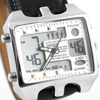 Wholesale 2013 hot sale OHSEN New LED Quartz Analog Digital Mens Wrist Watch freeship