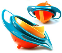 Wholesale UFO gyroscope rotating bowl baby bowl Kid bowl toy bOWL would not fall in the bowl for kids