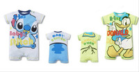 baby services - baby romper Baby crawling service kids clothing boy Girl tiger jumpsuit cotton short sleeve romper