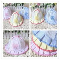 Girl kids sun hats - Soft cotton Baby Sun hat Kids Summer hat Big Brim Sunbonnet