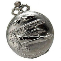 Modern aeroplane wing - Fokker Dr Wings Aeroplane Logo Mens Pocket Watch