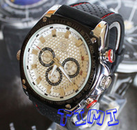 Wholesale UK Big Mens Size Luxury Self Winding Mechanical Skeleton Rubber Sport Watches freeship