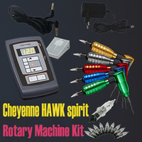 Wholesale Cheyenne HAWK LCD Power Tattoo Makeup Rotary Machine Kits Needles Assorted Tattooing Equipment