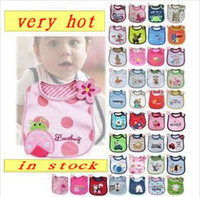 Wholesale Hot Cartoon baby bibs Baby Burp Cloths children s kerchief infant towel kid neckerchief Waterproof