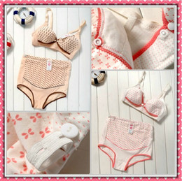 Wholesale maternity wear nursing bra panties sets for Pregnant women cotton color retail and