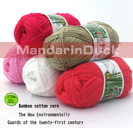 Wholesale 5skeins g bamboo yarn baby wool knit
